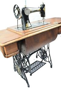 Antique Singer 127k Sphinx 1923 Treadle Or Hand Crank Sewing Machine