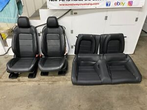 2015 2017 Ford Mustang Gt 50th Anniversary Black Leather Front rear Seats Oem