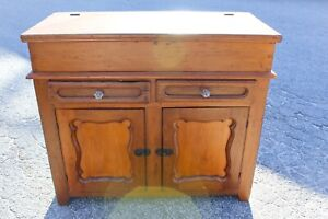Antique Farmhouse Lift Top Dry Sink For Kitchen Pantry