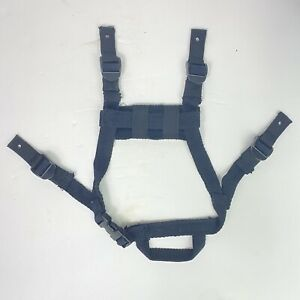 Black Tactical Airsoft MICH Helmet Replacement 4 point Chinstrap Budget Cosplay $14.99