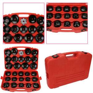 30x Universal Cap Type Oil Filter Wrench Set Socket Tool Automotive Removal Tool