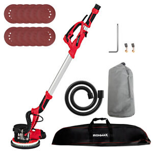 Ironmax Electric Drywall Sander 750w Variable Speed W automatic Vacuum Led Light
