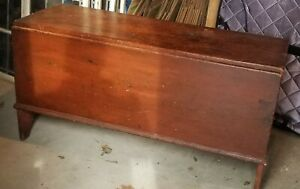Rare Early 6 Panel Blanket Chest