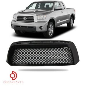 For 2007 2009 Toyota Tundra Front Hood Grille Mesh Honeycome Abs Gloss Black
