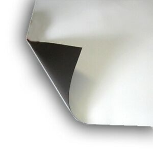 2 Sheet 16 X 22 Magnetic Light Weight Flexible 20 Mil Magnet Blank Color White