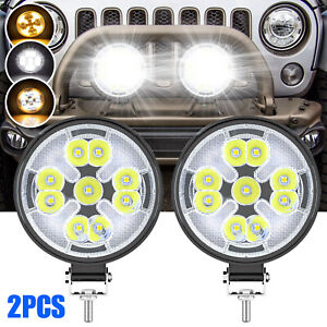 2x 4inch Led Work Light Bar 63w 4wd Offroad Spot Pods Fog Truck Suv Driving Lamp