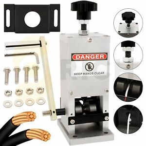 Hand Crank Wire Stripper Machine Copper Cable Peeling Stripping Portable manual
