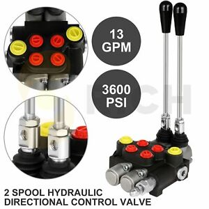 2 Spool 13 Gpm 3600 Psi Hydraulic Control Valve Double Acting Loader W Joystick