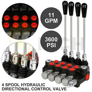 4 Spool 11 Gpm 3600 Psi Hydraulic Control Valve Double Acting Loader W Joystick