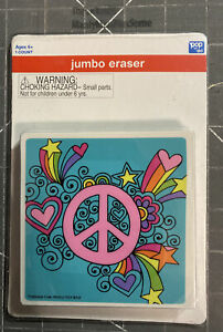 Jumbo Peace Sign Heart Stars Large Square Eraser Art Pop By Dci New