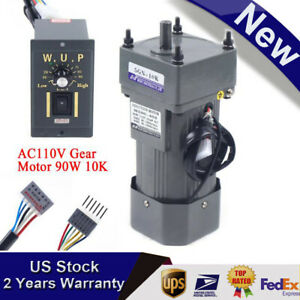 90w 110vac Gear Motor Electric Variable Speed Controller Torque 1 10 0 135rpm Us