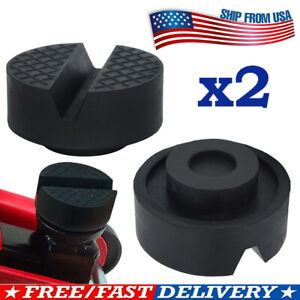 2pcs Jack Rubber Pad Disk For Jacking Stands Slot Rail Floor Car Lift Adapter