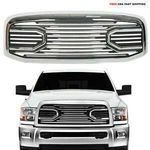 Front Chrome Big Horn Grille shell Fit For Dodge Ram 06 08 1500 06 09 2500 3500