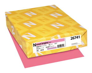 Exact Color Copy Paper 8 1 2 X 11 Inches 20 Lb Bright Pink 500 Sheets