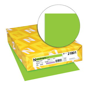 Astrobrights Colored Paper 8 1 2 X 11 Inches 24 Lb Martian Green 500 Sheets