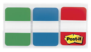 Post it Tabs 1 X 1 1 2 Inches Green Blue Red 22 Tabs Per Colors 66 Tabs
