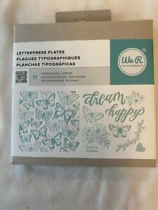 We R Memory Keepers 11 Letterpress Plates Wildflower 662693 Crafts Art Cards