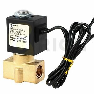 1 4 brass Electric Solenoid Valve 12v Dc Air Valve Control Flow Normally Closed