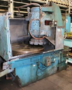 42 Chk 35hp Spdl Blanchard 18 42 Rotary Surface Grinder