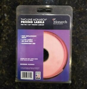 Two line Monarch Pricing Labels For 1136 Pricing Labeler 1750 Per Roll New Pkg