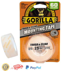 Clear Double Sided Mounting Tape gorilla Tough 1 X 60 Weatherproof Pack Of 1