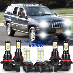 Para For Jeep Grand Cherokee 1999 2003 2004 Faros Led Hi Low Faros Antiniebla