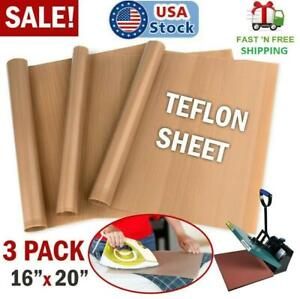 Teflon Sheets Non Stick For Heat Press Transfer Iron Resistant Reusable 3 Pack