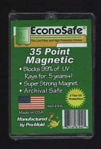 1 Box Of 25 Econosafe Brand 35pt Magnetic One Touch Card Holders 35 Pt uv Safe