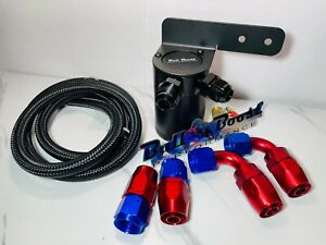 Universal Performance Oil Catch Can 2 Port 10an Mounting Bracket Kit