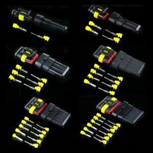 5x 1 6 Pin way Waterproof Electrical Wire Connector Tight Plug Kit Car Boat Sets
