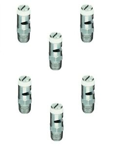 Pack Of 6 Teejet Turf jet Ss Wide Angle Flat Fan Spray Tip 0 8 Gpm 40 Psi