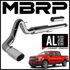Mbrp 4 Cat back Exhaust System Fits 2015 2020 Ford F 150 2 7l 3 5l Ecoboost