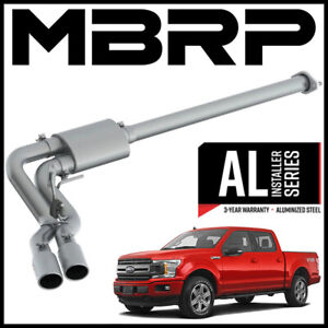 Mbrp 3 Cat Back Exhaust System Fits 2015 2020 Ford F 150 2 7l 3 5l 5 0l