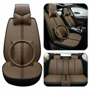 Car Suv Seat Cover Cushion Luxury Set Protector Front Rear Universal Accessories