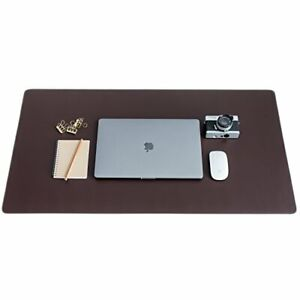 Zbrands Brown Leather Desk Mat Pad Blotter Protector Extended Non slip