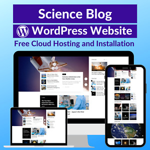 Science Blog Business Affiliate Website Store Free Hosting installation