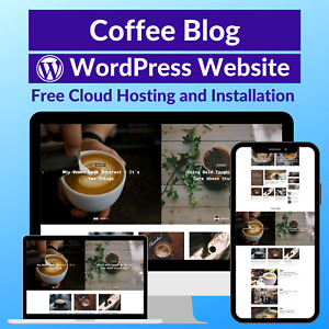 Coffee Blog Business Affiliate Store Website Free Installation Hosting