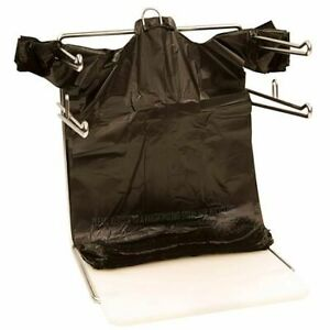 Bags 1 6 Large 21 X 6 5 X 11 5 Black T shirt Plastic Grocery Shopping Bags