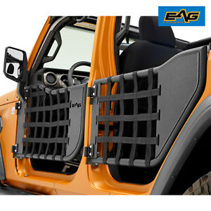 Eag Matrix Steel Tube Door With Mirror Pair Fit For 18 21 Jeep Jl Wrangler 4dr