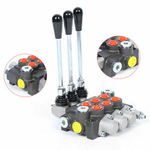 3 Spool Hydraulic Directional Control Valve 13 Gpm 3600 Psi For Forklifts Loader