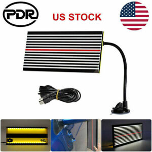 Pdr Led Line Board Light Car Body Paintless Dent Removal Dent Repair Tools Kit