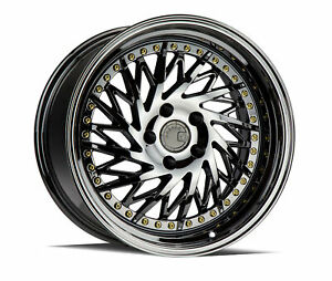 18x9 5 Aodhan Ds03 5x114 3 30 Black Vacuum True Directional Wheels set Of 4