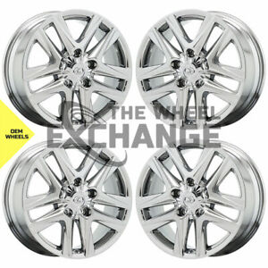 20 Lexus Lx570 Pvd Chrome Wheels Rims Factory Oem Set 74280 Exchange