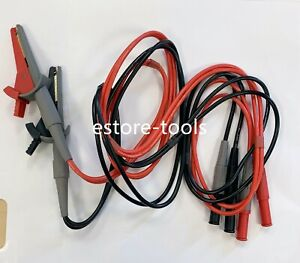 Usa Ship Lcr Meter Test Leads Lead Terminal Kelvin Clip Wires