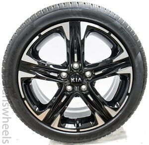 4 2021 Kia K5 Optima 18 Factory Oem Black Mach Wheels Rims Tires Free Shipping