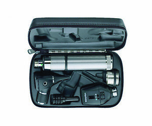 Welch Allyn Hill rom 3 5v Diagnostic Set With 2 Heads Handle hard Case 97200 c