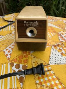 Panasonic Auto stop Electric Pencil Sharpener Kp 100 Vintage Tested Works Great