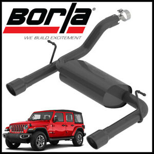Borla Touring Axle back 2 5 Exhaust System Fits 2018 2020 Jeep Wrangler Jl 3 6l
