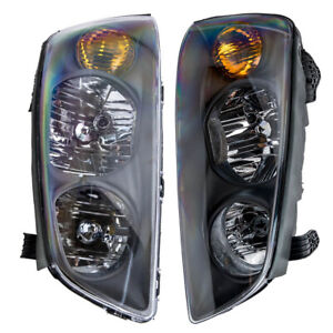 Headlight Set For Hyundai Elantra 2004 2005 2006 Left And Right With Bulb 2pc