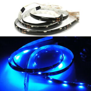 2pc Universal Fit Cadillac Side Shine Light Strip Blue 20 Smd Led Audi Style
